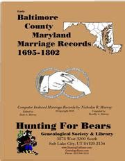 Maryland Records Marriage Early Baltimore County Maryland Marriage Records 1695 1802 Open Library