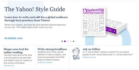 yahoo design guidelines website style guide template choice image template