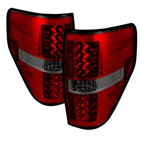 ford lightning tail lights 2009 14 ford f150 led tail lights red smoke