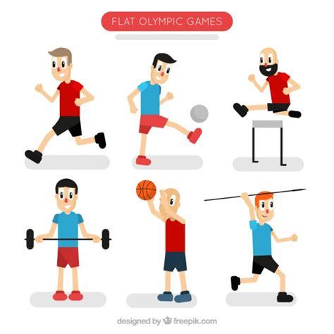 imagenes animadas haciendo deporte personajes animados haciendo deporte descargar vectores