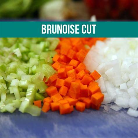 corte en brunoise brunoise cut cuts pinterest veggies and culinary arts