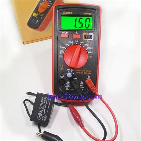 Multimeter Digital Heles alat ukur kapasitor digital capasitor meter a6013l