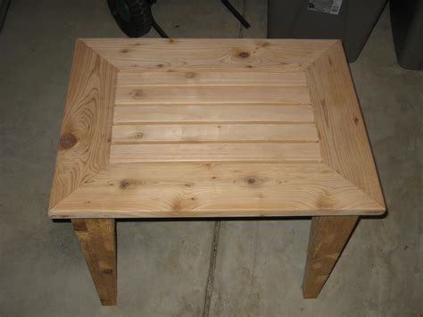 Cedar Patio Table Plans Woodwork Cedar Outdoor Side Table Plans Pdf Plans