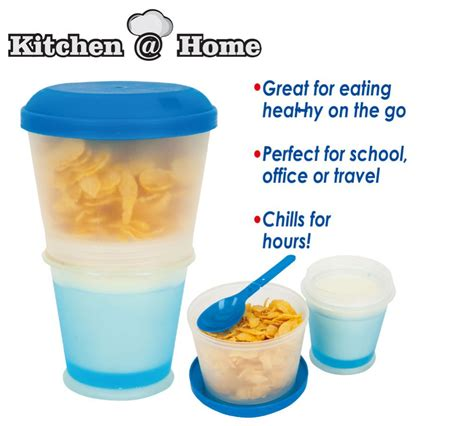 Cereal On The Go by Cereal On The Go Food Cup Water Bottle Folded Spoon Gel