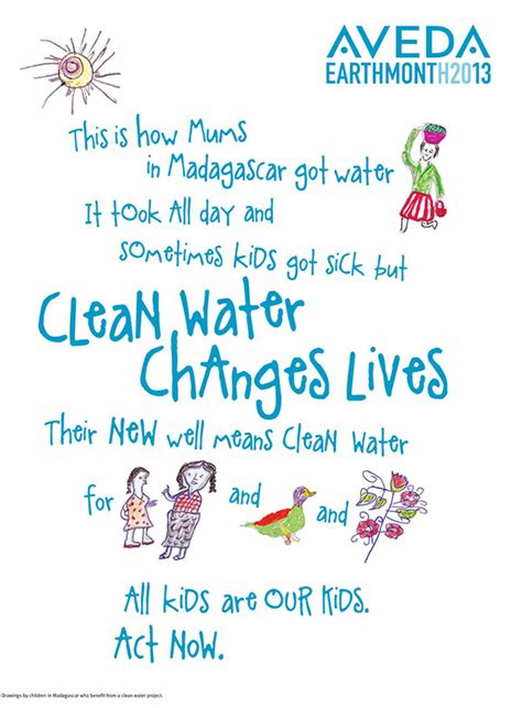 Aveda Celebrates Earth Month by Clean Water Changes Lives Gentlemen Salon And Spa