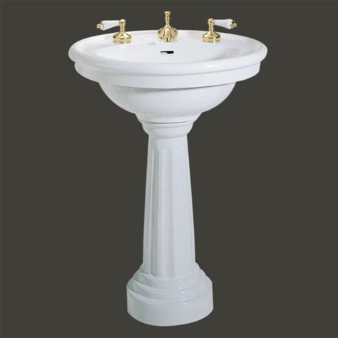 bathrooms with pedestal sinks standing pedestal sink white china 8 quot widespread bathroom fixture
