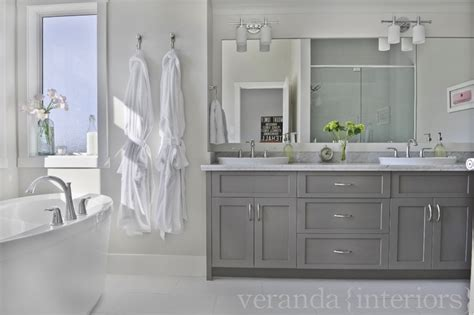 gray cabinets contemporary bathroom veranda interiors