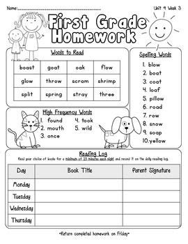 2nd Grade Homework Pages by 11 Best Images About Reading On