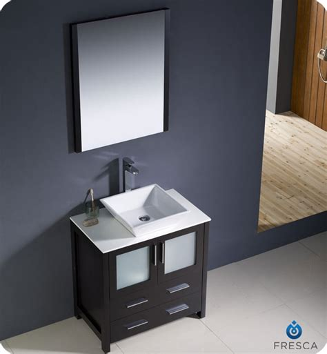 30 Modern Bathroom Vanity by 30 Torino Espresso Modern Bathroom Vanity W Vessel Sink