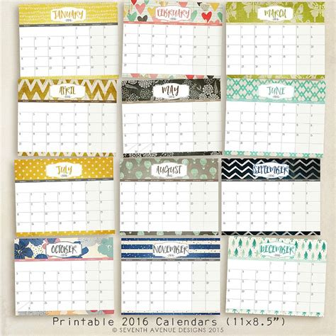 printable yearly calendar with space to write 16 free 2016 printable calendar