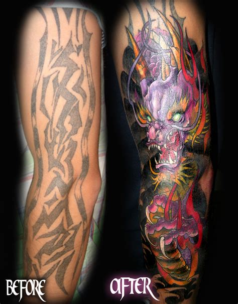 dragon tattoo cover up designs www ettore bechis best miami shop tribal cover
