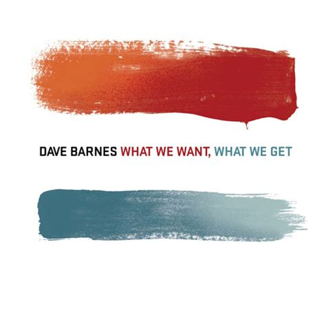 dave barnes quot what we want what we get quot review
