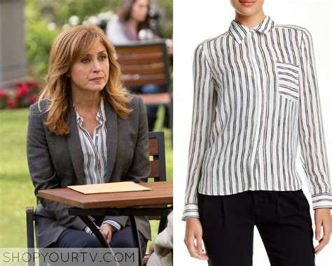 Blouse Maura rizzoli and isles season 6 episode 9 maura s vertical striped blouse shop your tv