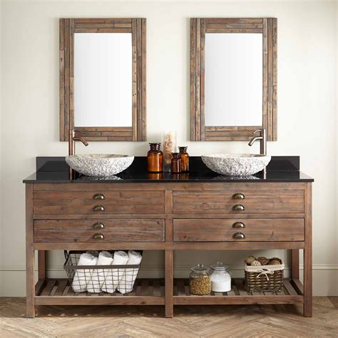72 quot benoist reclaimed wood vessel sink vanity