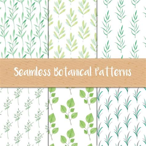 botanical pattern ai hand painted botanical patterns vector free download