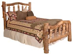 Rustic Log Bed Frame Silver Creek Aspen Log Bed Rustic Bed Frames By