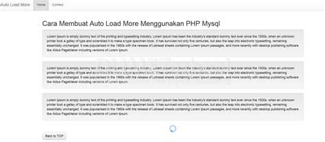 membuat web menggunakan php cara membuat auto load more menggunakan php mysql part 2