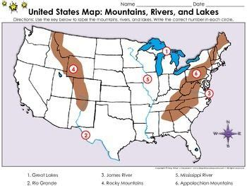 united states map labeled mountains united states map appalachian mountains and text features