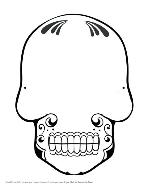 sugar skull mask template