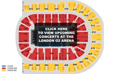 O2 Floor Seating Plan by Seating The O2 Arena Digital Spy