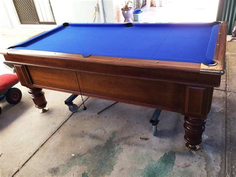 Best Pool Table For The Money by Pool Table Slate Top 7 X 3 6 Quot 4 Turned Legs Brass