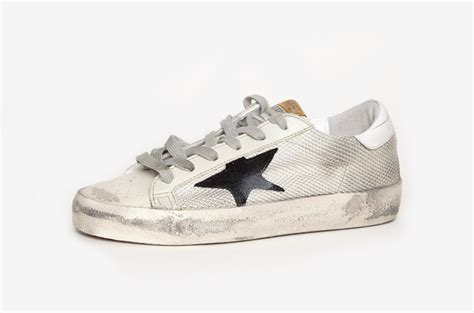 golden goose shoes golden goose deluxe brand superstar sneakers in gray lyst