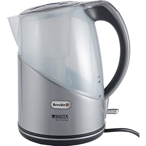 brita filter kettle small kitchen appliance electric breville brita vkj594 filter kettle silver at homebase