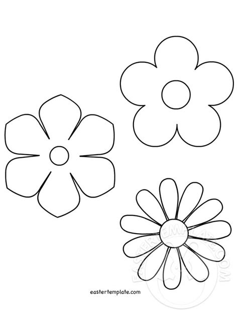 printable springtime flowers spring flower template easter template