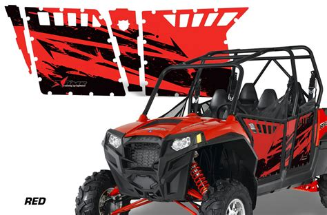 polaris home design inc amr racing door graphics kit for polaris rzr4 800 2011