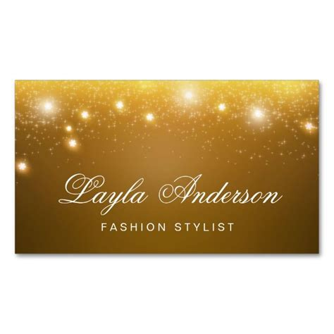 Gold Fashion Stylist Business Card Template by Fashion Stylist Shimmering Gold Glitter Sparkles