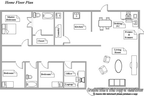 floor plan of office home office layout planner house plans
