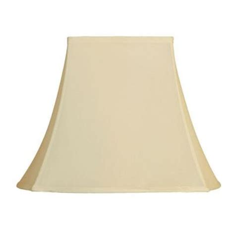 mario industries beige fancy square single replacement l shade 93885 the home depot