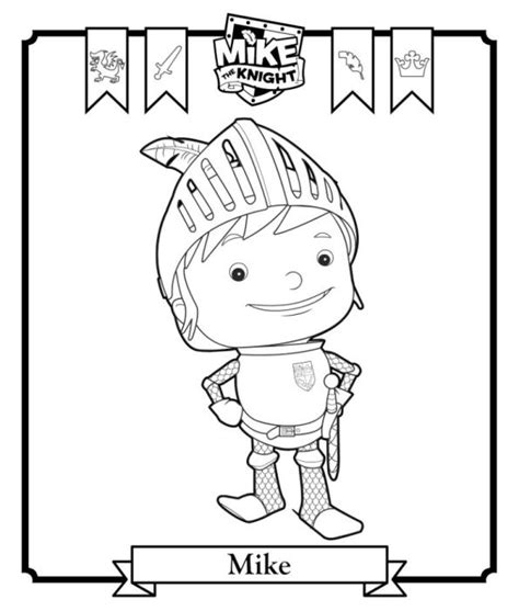 kids n fun com coloring page mike the knight mike