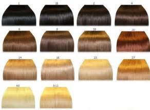 hair color number chart hair color chart qlassy hair extensions