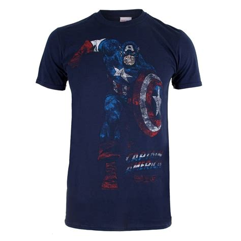 T Shirt Captain America Navy marvel t shirt captain america navy woodmint