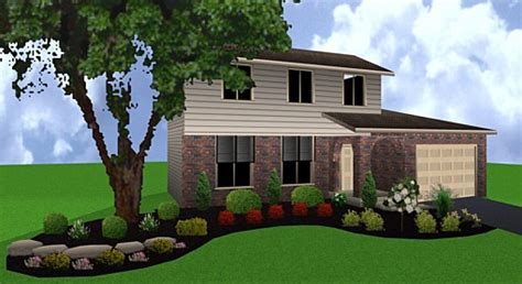 shrub design for front of house landscape design pictures front of house plan pdf