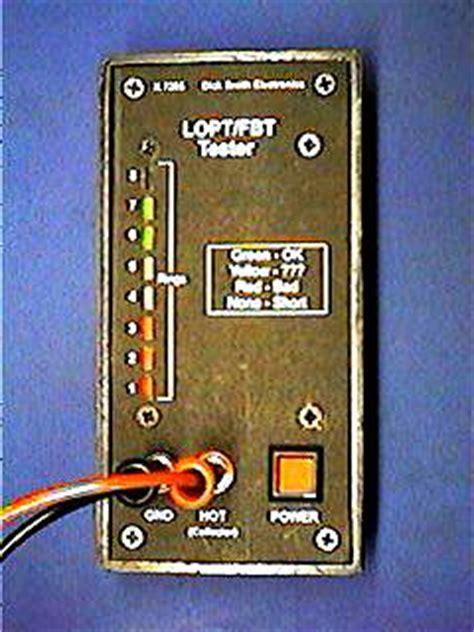 Flyback Tester Fbt Tester Lopt Tester k 7205 lopt fbt tester page