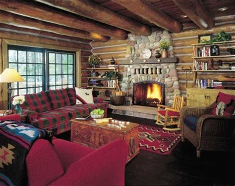 log cabin living room decor woods getaway cabin decor idea going out on a whim howstuffworks