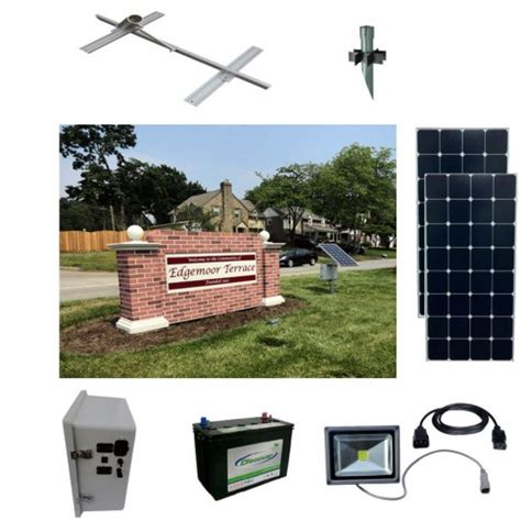 solar lighting for signs solar sign lighting kits sun in one