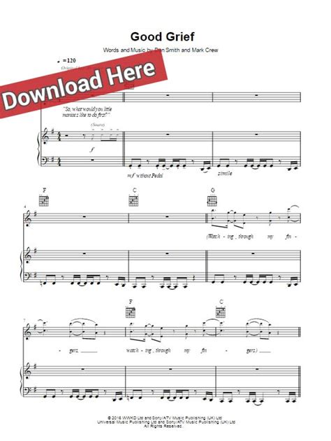 keyboard chords tutorial pdf bastille good grief sheet music chords piano notes