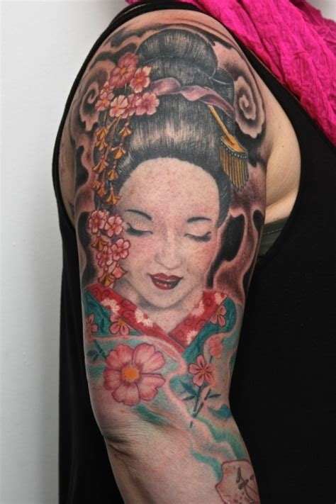 tattoo geisha arm 30 cool arm tattoos for men creativefan