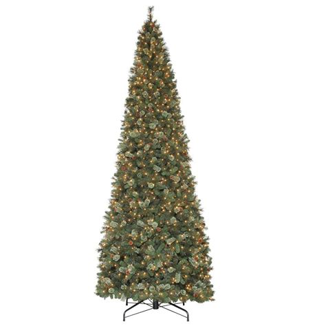 martha stewart living 15 ft alexander pine quick set artificial christmas tree with pinecones