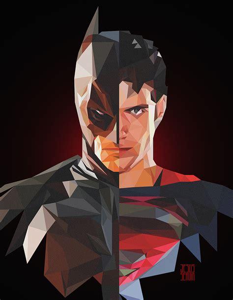 wallpaper batman low poly superman vs batman low poly on behance