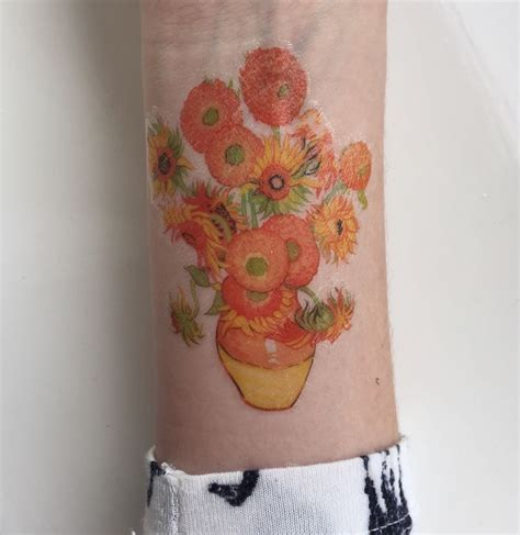 van gogh sunflower tattoo 1695 best pretty tattoos images on
