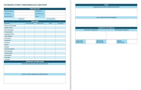90 day review template template design