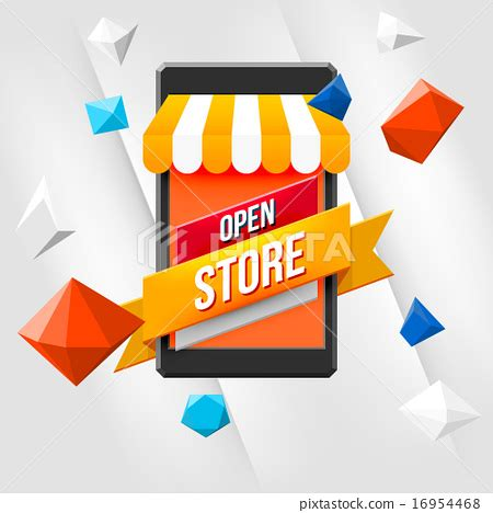 background online shop online shopping concept with white background stock