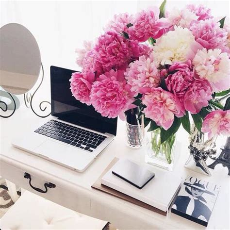 flowers for office desk office inspiration desk inspiration office decor pink