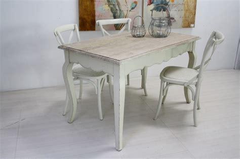 tavolo bianco shabby chic tavolo legno bianco shabby chic etnico outlet mobili etnici