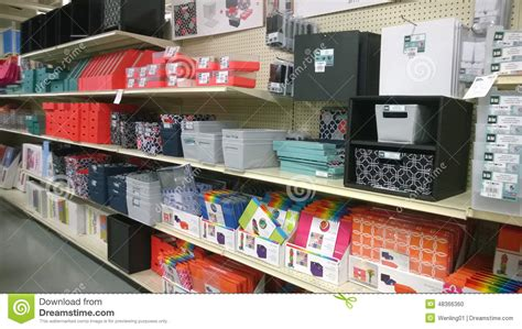 Garden Ridge Dumpster Paper Storage And Containers On Shelves Editorial Image