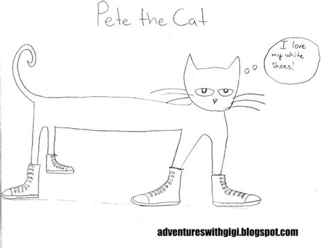 pete the cat shoe template free pete the cat tennis shoe coloring pages